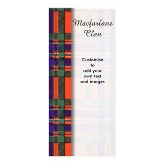 Macfarlane clan Plaid Scottish tartan Rack Cards