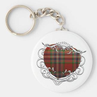 MacFarlane Tartan Heart Key Ring
