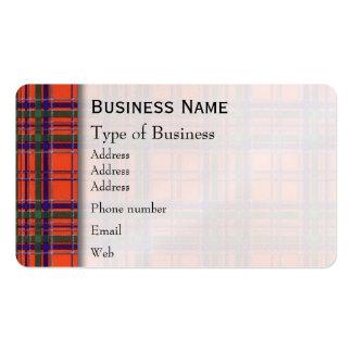 Macgillivary clan Plaid Scottish tartan Pack Of Standard Business Cards