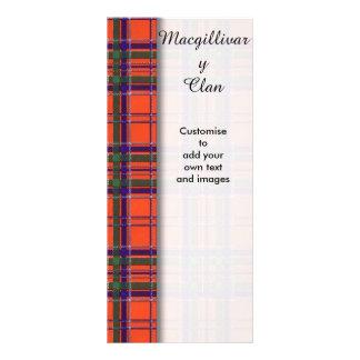 Macgillivary clan Plaid Scottish tartan Customized Rack Card