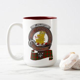 MacGregor Clan Badge Two Tone 15oz Mug