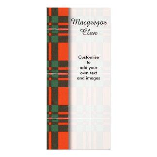 Macgregor clan Plaid Scottish tartan Customised Rack Card