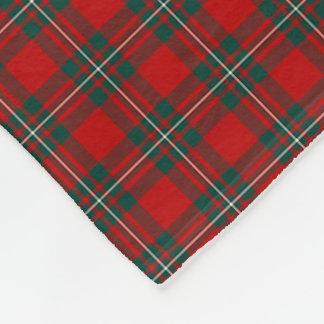 MacGregor Clan Red and Forest Green Tartan Fleece Blanket