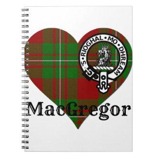 MacGregor Tartan Crest Heart Notebooks