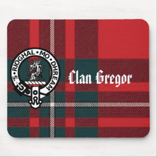 MacGregorPlaid, Gregor Badge, Clan Gregor Mouse Pad
