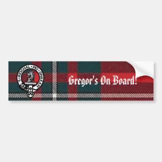 MacGregorRed1, Gregor Badge, Gregor's On Board! Bumper Sticker