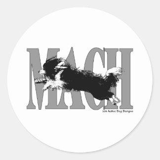 MACH Beardie Classic Round Sticker