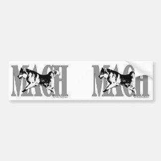 MACH Siberian Husky Bumper Sticker
