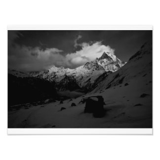 machapuchare mountain or fishtail photo print