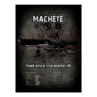 Machete zombie apocalypse poster