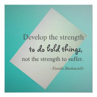 Machiavelli Quote Poster