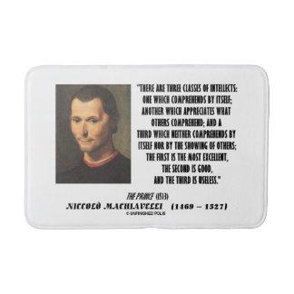 Machiavelli Three Classes Of Intellects Quote Bath Mats