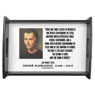 Machiavelli Three Classes Of Intellects Quote Food Trays