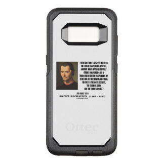 Machiavelli Three Classes Of Intellects Quote OtterBox Commuter Samsung Galaxy S8 Case