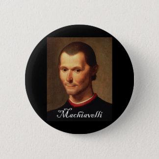 Machiavelli with Blackadder font 6 Cm Round Badge