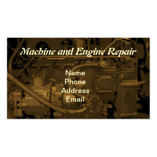 Machine and Engine Repair Service Pack Of Standard Business Cards