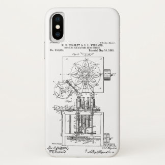 Machine for Pasting Shoes  Maria Beasley, Inventor iPhone X Case