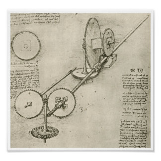 Machine for Shaping Iron Rods, Da Vinci Poster