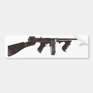 Machine Gun Bumper Sticker