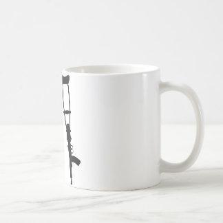 Machine Gun Crutches - End War Peace Mug