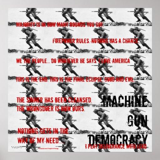 Machine Gun Democracy, deliverance {{63320998}} Posters