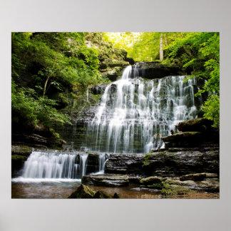 Machine Gun Waterfalls Poster
