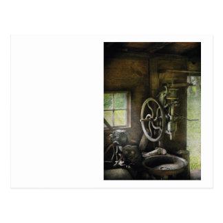 Machine Shop - An old drill press Postcard