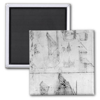 Machinery designs, fol. 394v square magnet
