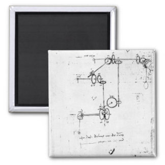 Machinery designs fol 399v-b refrigerator magnets