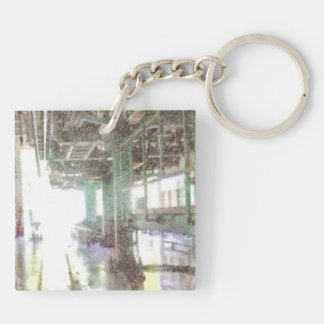 Machinery in a factor Double-Sided square acrylic key ring