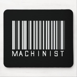 Machinist Bar Code Mouse Pad