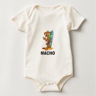 macho mutt baby bodysuit
