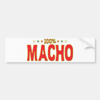 Macho Star Tag Bumper Stickers