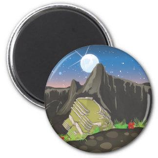Machu Picchu 6 Cm Round Magnet