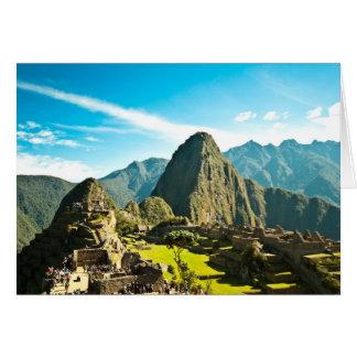 Machu Picchu Card