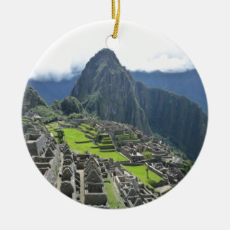 Machu Picchu Ceramic Ornament