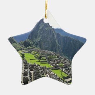 Machu Picchu Ceramic Star Decoration