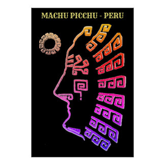 Machu Picchu Cusco Peru  Drawing Poster