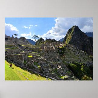Machu Picchu in the Afternoon, Peru Poster