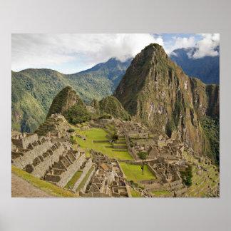 Machu Picchu, inca city in Peru poster
