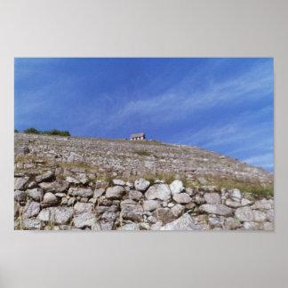 Machu Picchu - Looking up at the Guard Shack Poster