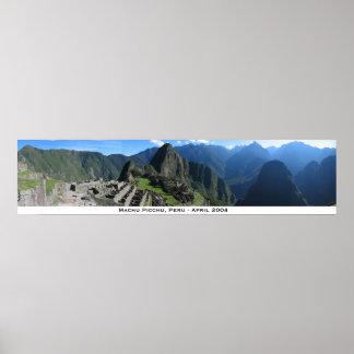 Machu Picchu Panorama 2 Poster