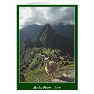 Machu Picchu Peru - Blank Card