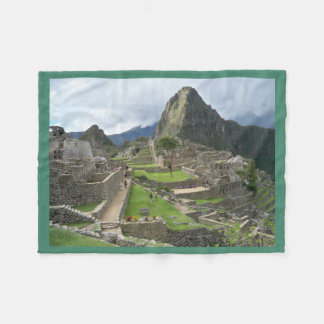 Machu Picchu Peru fleece Blanket/pillow