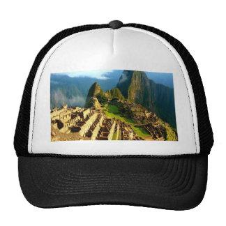 machu picchu peru inca hat