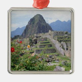 Machu Picchu, Peru Silver-Colored Square Decoration