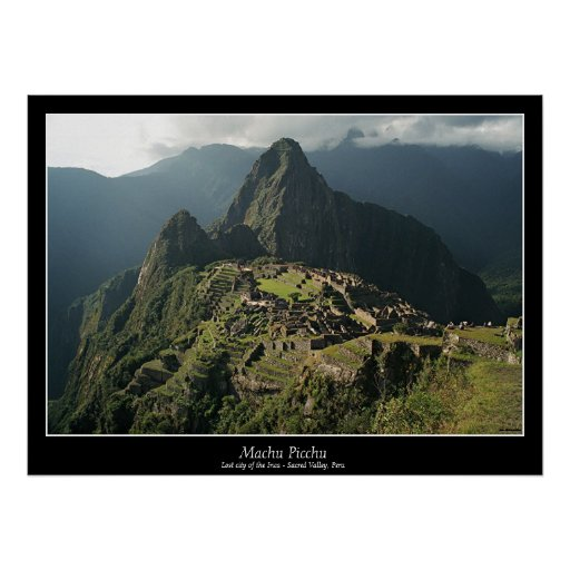 Machu Picchu Poster - New 7 Wonders of the World