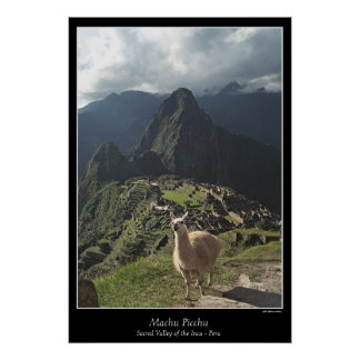 Machu Picchu Poster Seven Wonders of the World