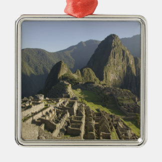Machu Picchu, ruins of Inca city, Peru. Metal Ornament