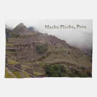 Machu Picchu Ruins, Peru Close Up Tea Towel